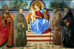 Obraz ze św. J. Gwalbertem - muzeum Vallombrosa