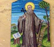 Vallombrosa  - mozaika przedstawiająca J. Gwalberta