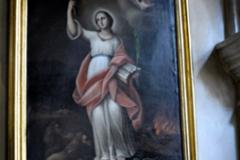 Obraz św. Tekli w kościele Franciszkanów we Lwowie.