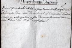 Inwentarz z roku 1826