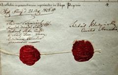 Pieczęci i podpisy na inwentarzu z 1826 roku