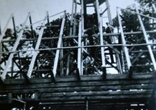 Budowa kościoła w 1948 r.