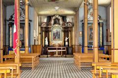 Wnętrze kościoła z 1948 r.