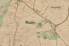 Archiwum Państwowe w Przemyślu  -  Mapa wsi Stany w Galicji w Obwodzie Rzeszowskim z roku 1853