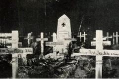 Cmentarz wojenny w Bojanowie z okresu I wojny światowej.