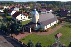 Aktualny wygląd kościoła Niepokalanego Poczęci NM Panny w parafii Przyszów Ruda
