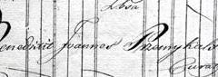 Podpis ks. Przemykalskiego w księdze ślubów
