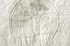 Pieczęć  biskupa odciśnięta w Księdze Ślubów  w roku 1812