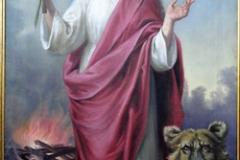 Obraz św. Tekli pędzla lubelskiego malarza Barwickiego z pocz. XX w. (kościół w Stanach)