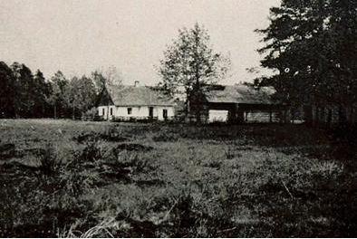 Zabudowania we wsi Maziarnia  -  fot.  ze zbiorów Staatsbibliothek zu Berlin ? PK wyk. ok. r. 1915/1916
